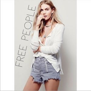 Free People gray high rise waist shorts 26 0133
